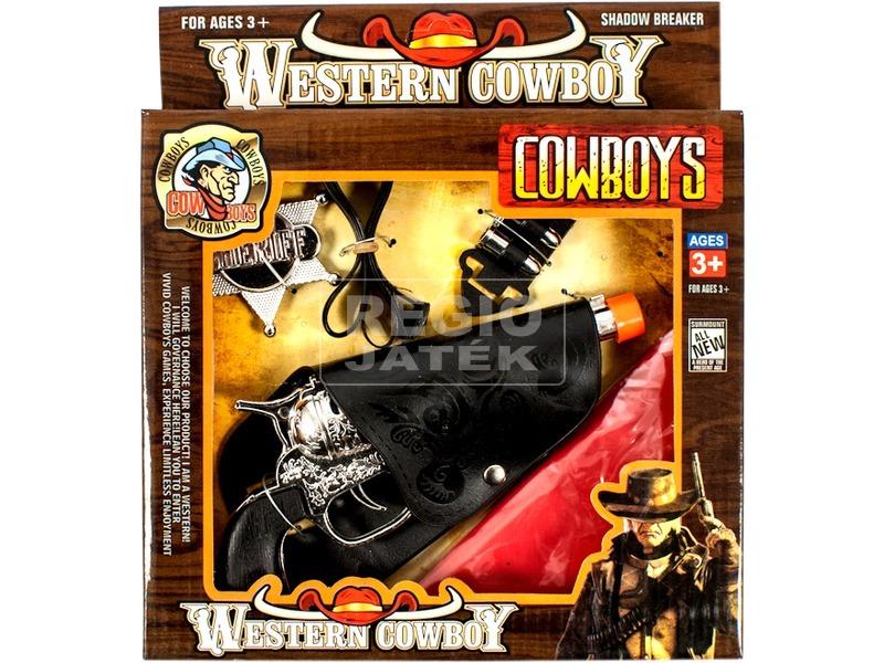 Cowboy pisztoly +csillag +lőszer