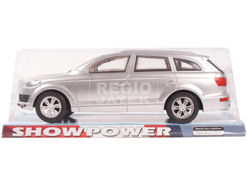 Audi Q7 lendkerekes műanyag autómodell - ezüst
