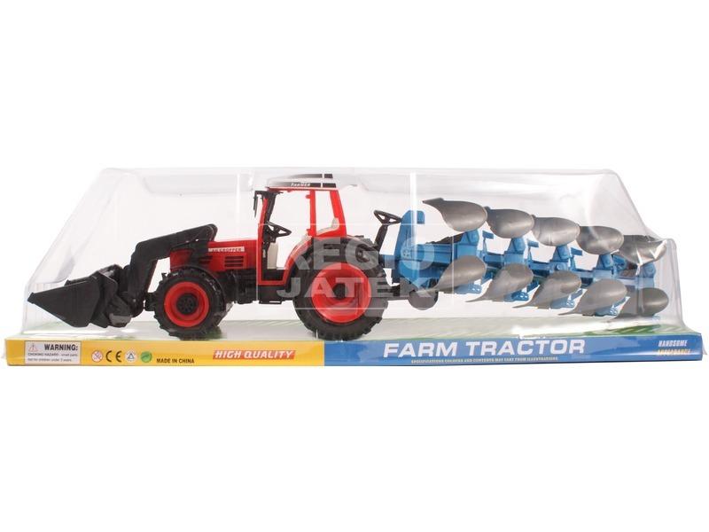 Lendkerekes traktor eke utánfutóval - 55 cm