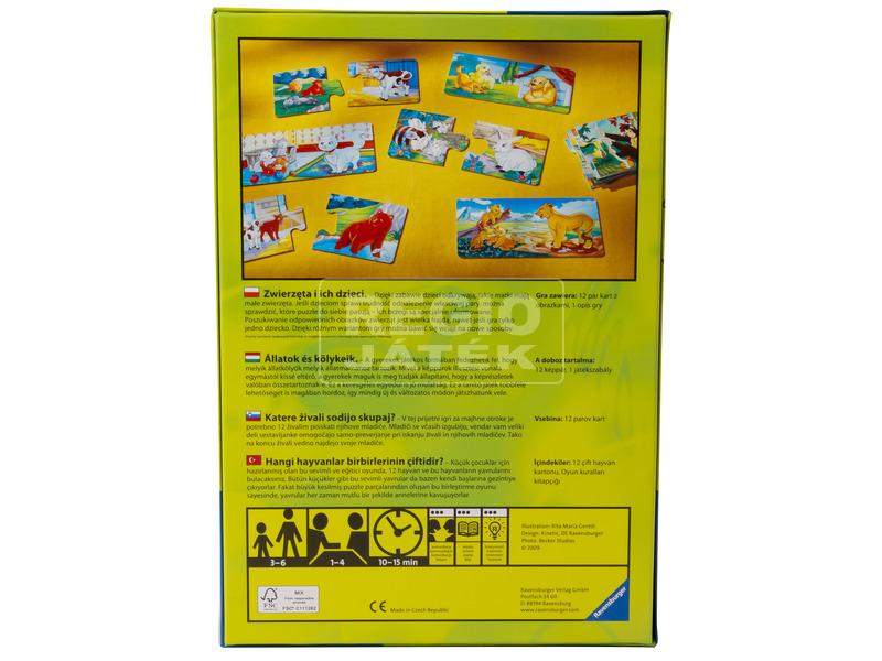 kép nagyítása Logo Zoo állatok és kölykeik társasjáték