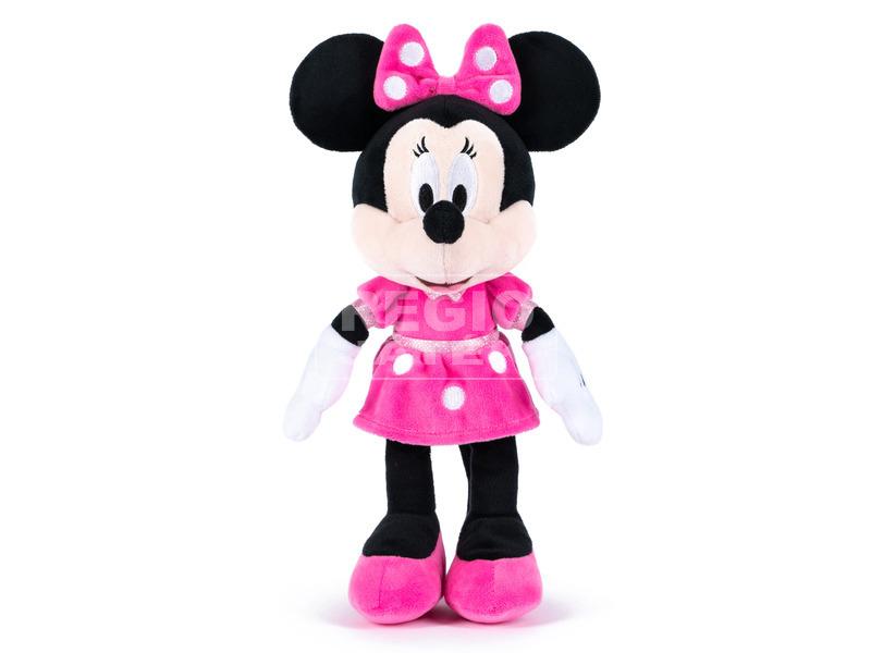 Minnie egér Disney plüssfigura pöttyös ruhában - 25 cm