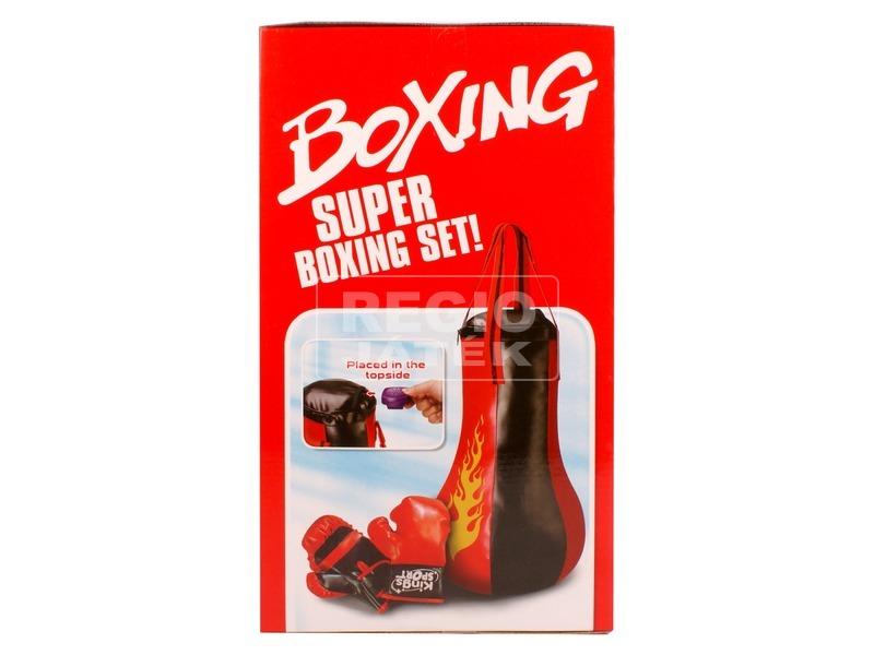 Boxzsák és boxkesztyű készlet hanggal