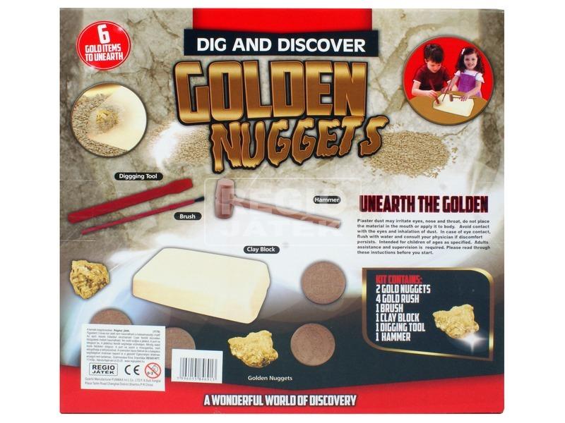 kép nagyítása Régész játék - aranyrögök