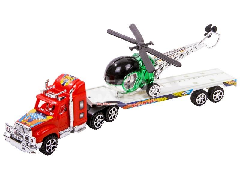Lendkerekes helikopterszállító kamion - 38 cm