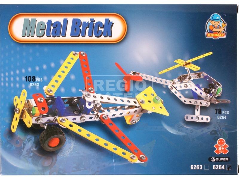 Helikopter 78 darabos fém építőjáték