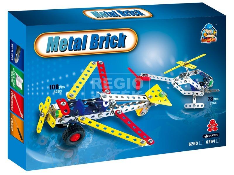 Repülőgép 108 darabos fém építőjáték