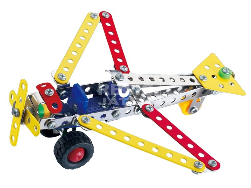 kép nagyítása Repülőgép 108 darabos fém építőjáték