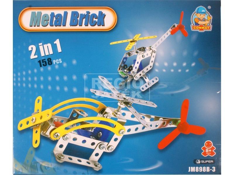 Helikopter 2 az 1-ben 158 darabos fém építőjáték