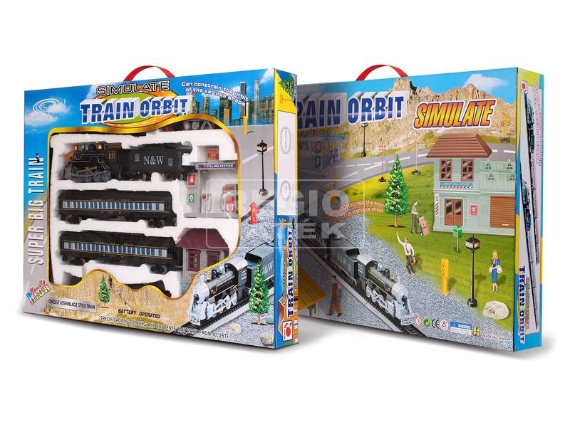 Train Orbit modellvasút készlet gőzmozdonnyal