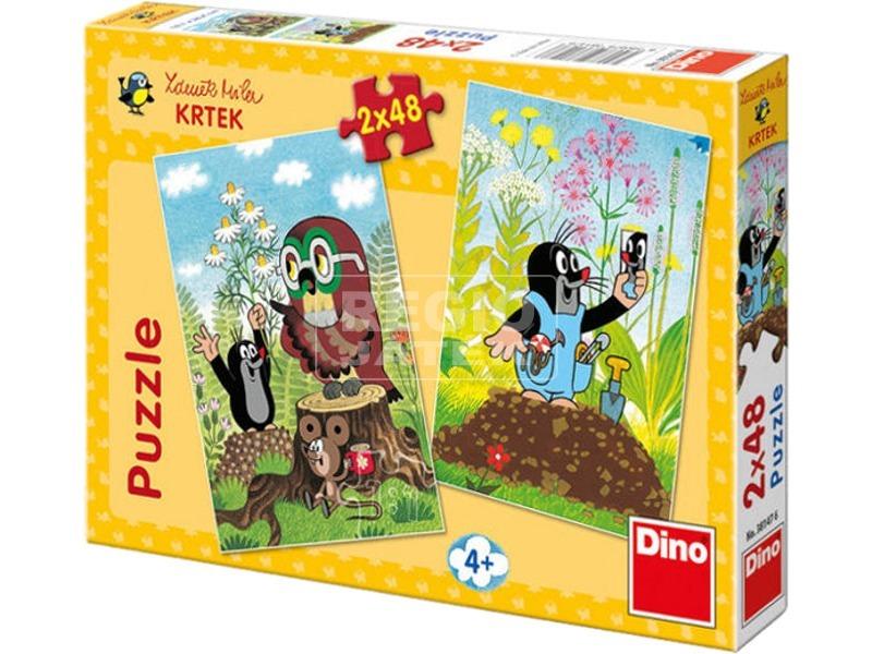 Kisvakond meséi 2 x 48 darabos puzzle