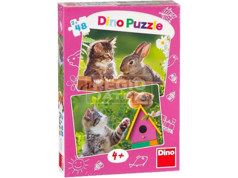 Cicák és barátaik 2 x 48 darabos puzzle