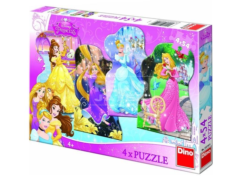Disney hercegnők 4 x 54 darabos puzzle