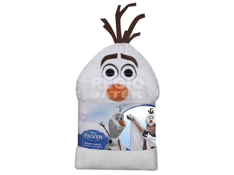 Jégvarázs Olaf kesztyűs és kapucnis plüss takaró - 100 x 100 cm