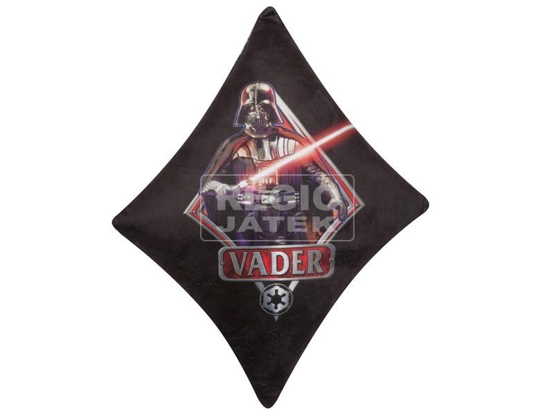 Star Wars: Darth Vader plüss díszpárna - fekete-piros, 27 x 28 cm