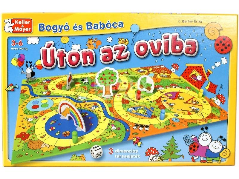 Bogyó és Babóca Úton az oviba társasjáték