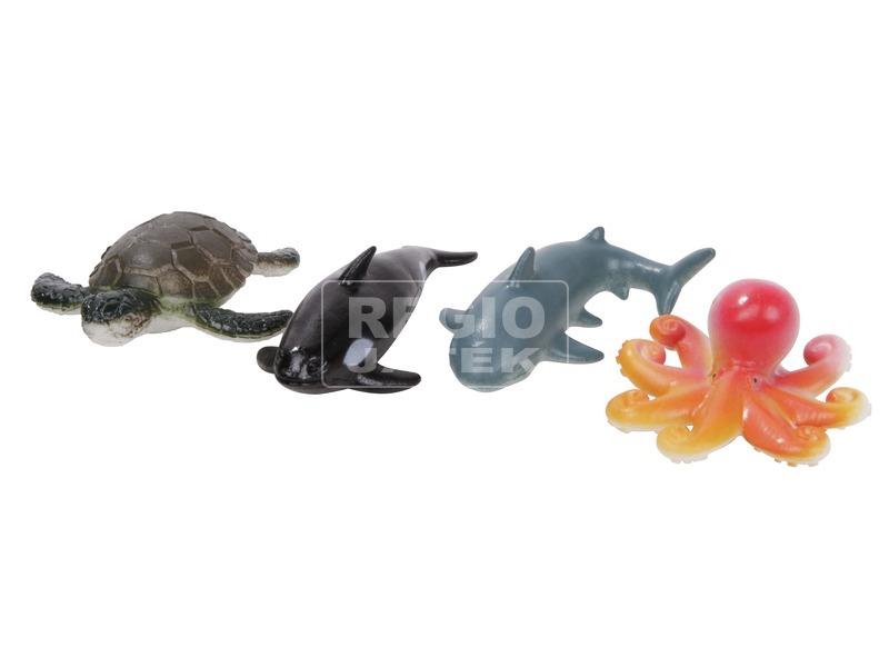 Műanyag tengeri állat 4 darabos készlet - többféle