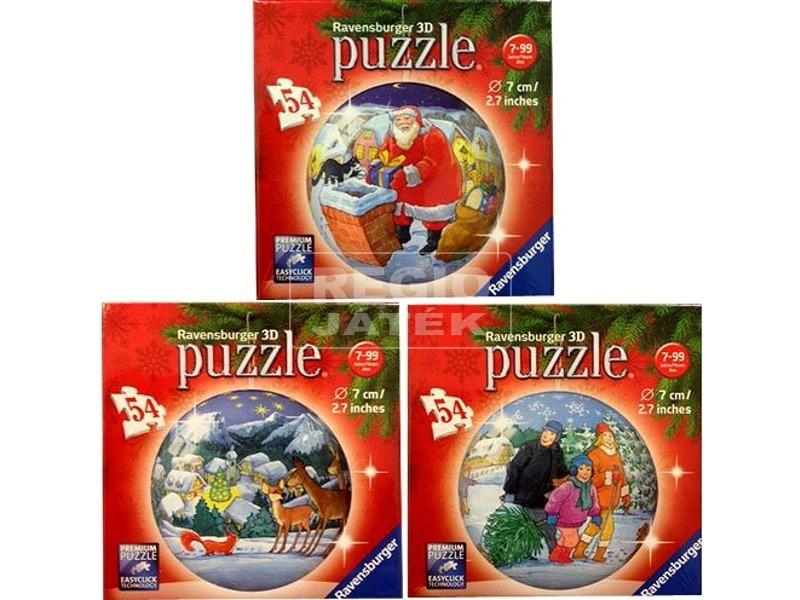 Karácsony 54 darabos puzzleball - többféle