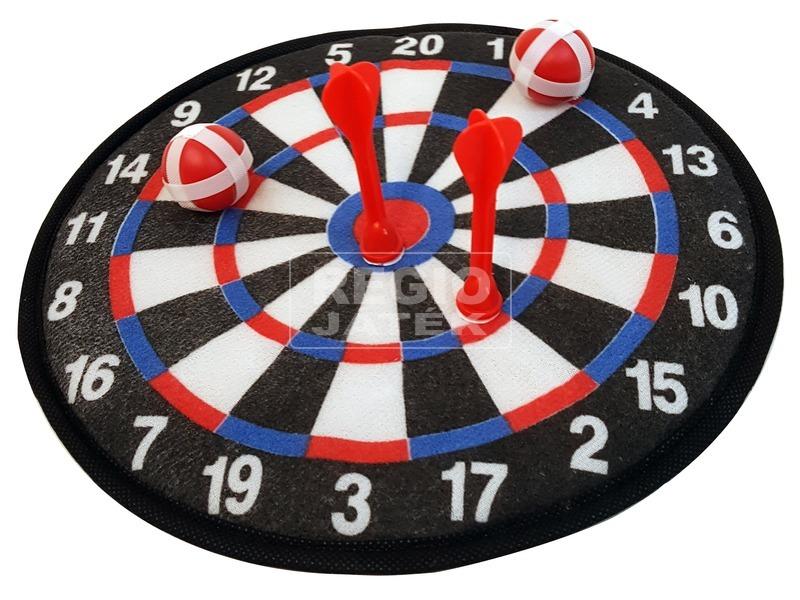 kép nagyítása Tépőzáras darts tábla labdákkal és nyilakkal