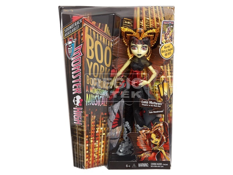 Monster High: Boo York Luna Mothews baba - 29 cm