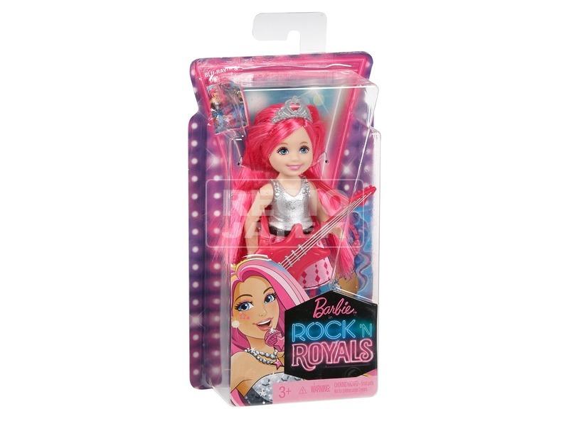 Barbie: A rocksztár hercegnő Chelsea baba - 15 cm, rózsaszín