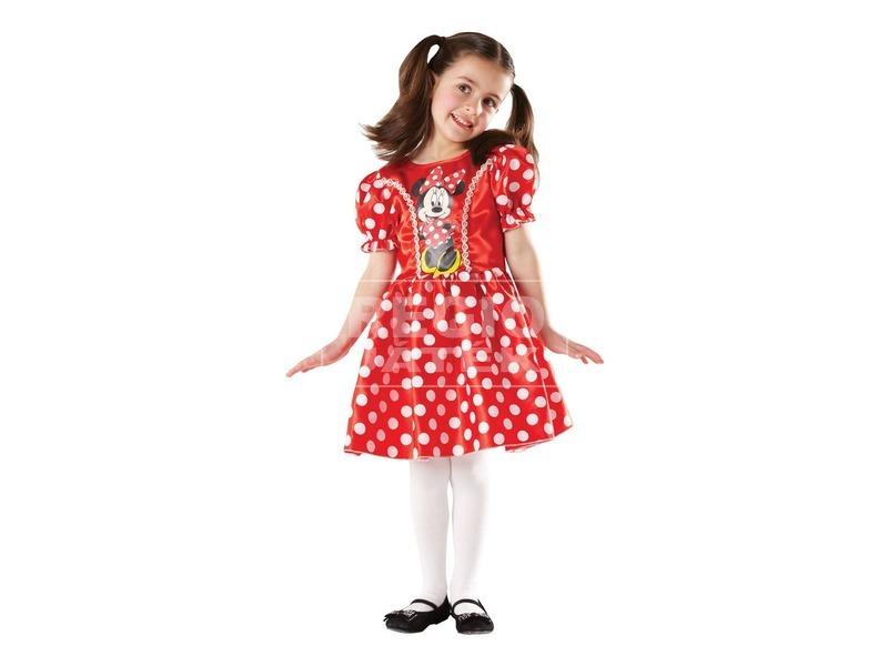 Minnie egér jelmez - piros, 116 cm