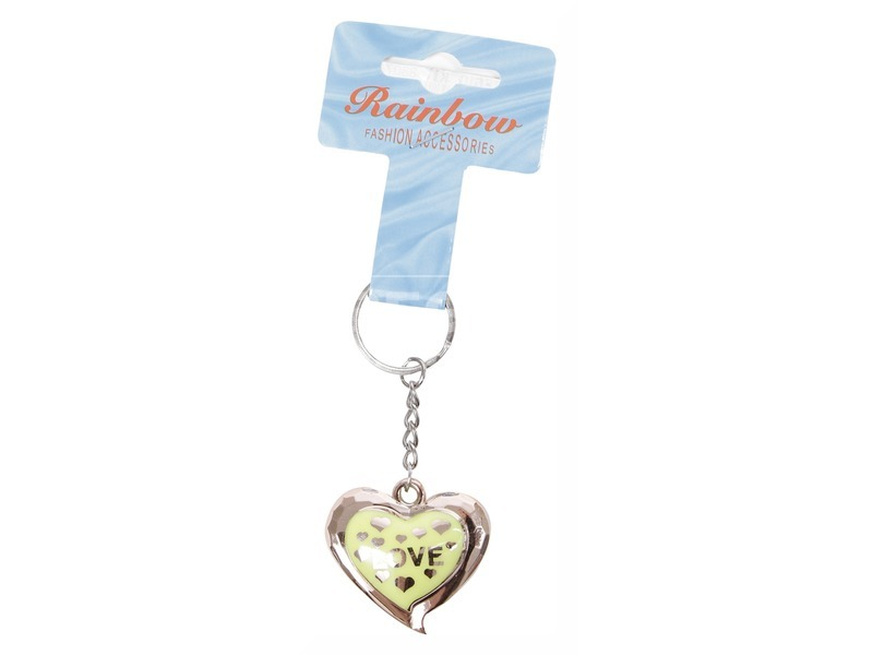 Aranyszínű szívecske kulcstartó - többféle