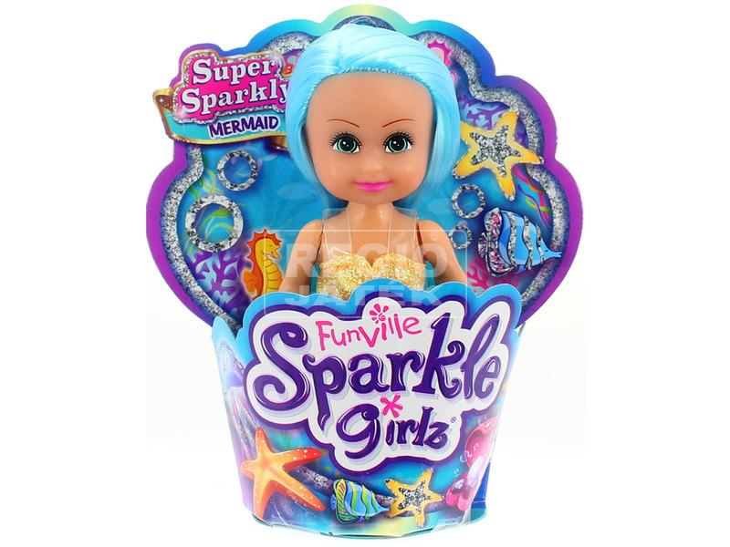 Sparkle girlz - Sellő baba 10 cm, 4 féle