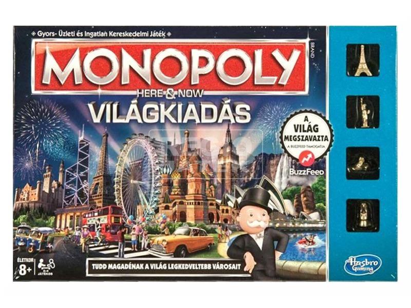 Monopoly Itt és most - Világkiadás társasjáték