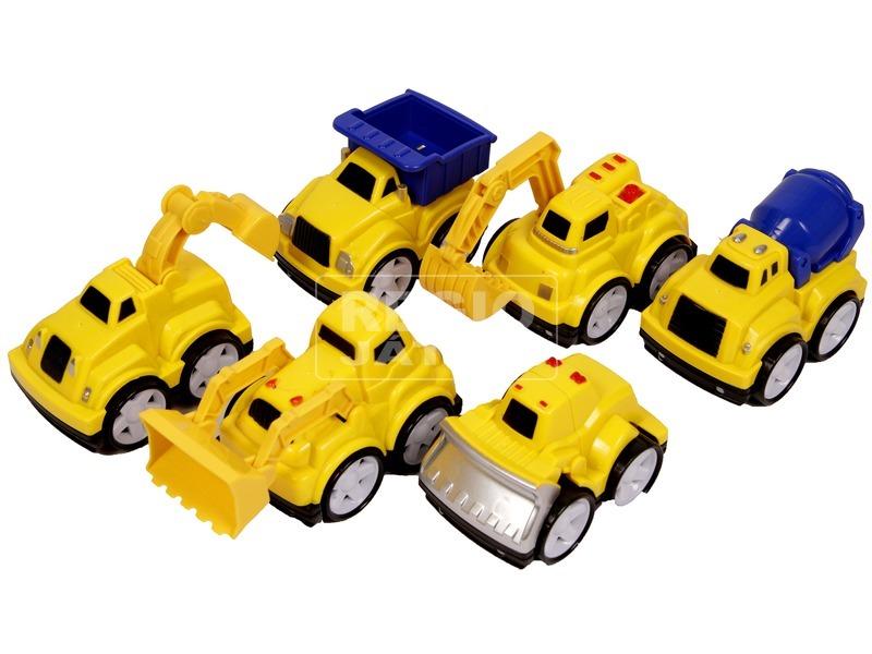 Hátrahúzós mini munkagép - többféle
