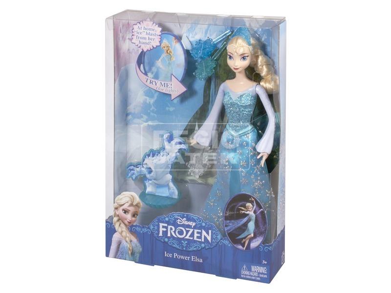 Jégvarázs Elsa hercegnő baba világító hógolyóval - 30 cm