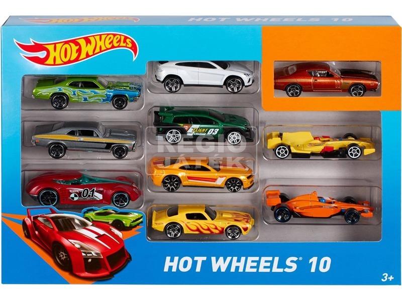Hot Wheels kisautó 10 darabos készlet