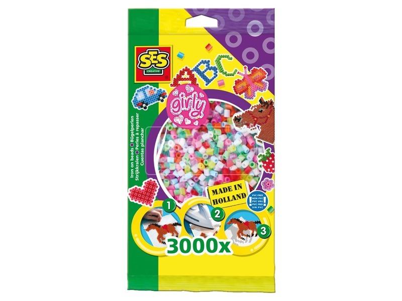SES lányos színű vasalható gyöngy 3 000 darabos készlet