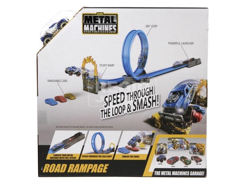 kép nagyítása Metal Machines rendőrség kicsi pályakészlet