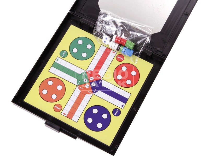kép nagyítása 3 az 1-ben mágneses úti társasjáték készlet