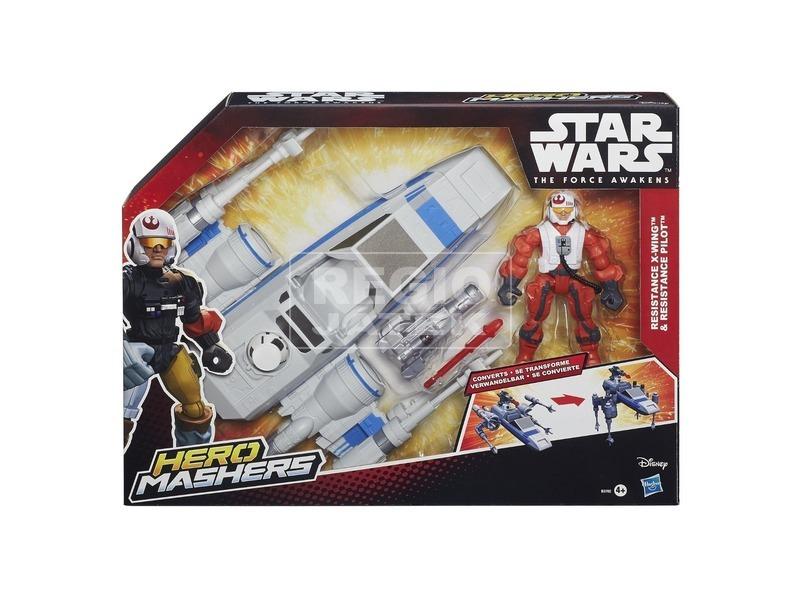 Star Wars: Hero Mashers figura járművel - többféle