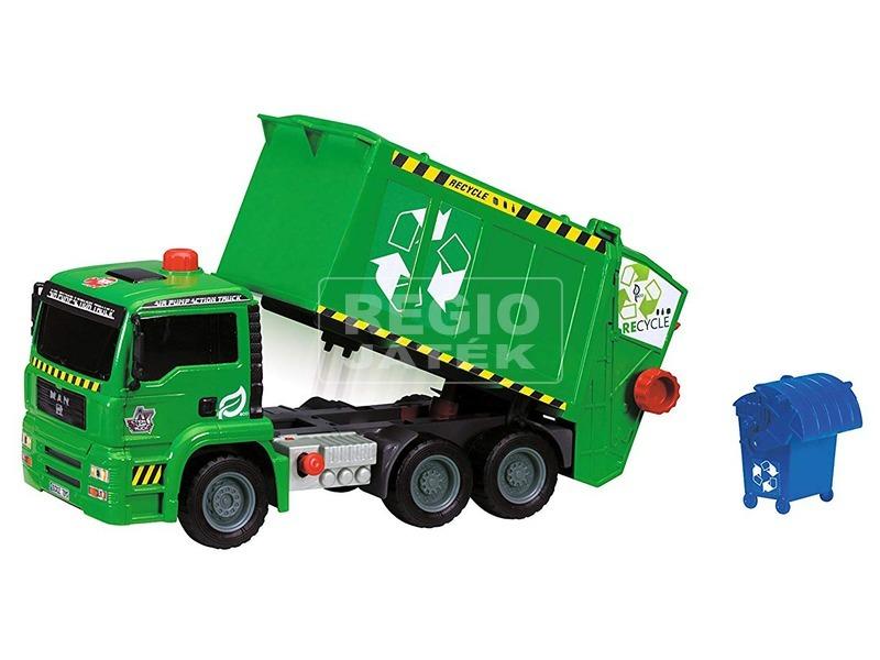 kép nagyítása Dickie Air Pump kukásautó pumpával - zöld, 31 cm