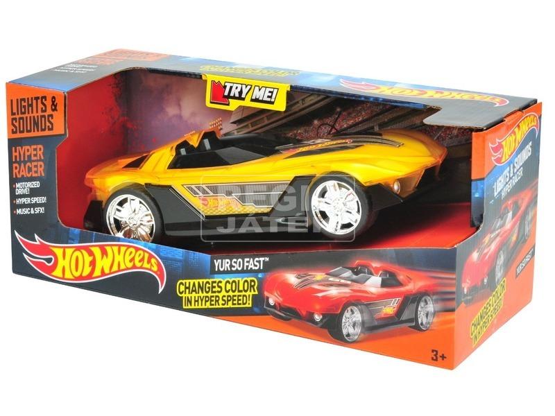 HW Hyper Racer kisautó sárga 90531