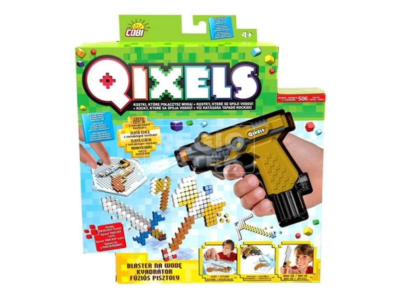 QIXELS GOLD FUSE BLASTER MO