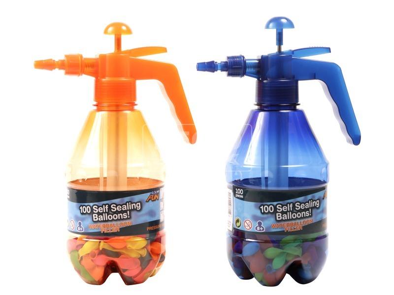 Vízibomba önzáró lufi készlet töltővel- többféle