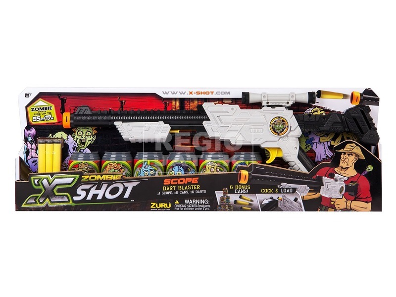 X-Shot Zombie Scope távcsöves puska készlet