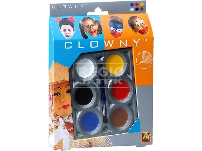 Clowny - arcfestő 6 színű