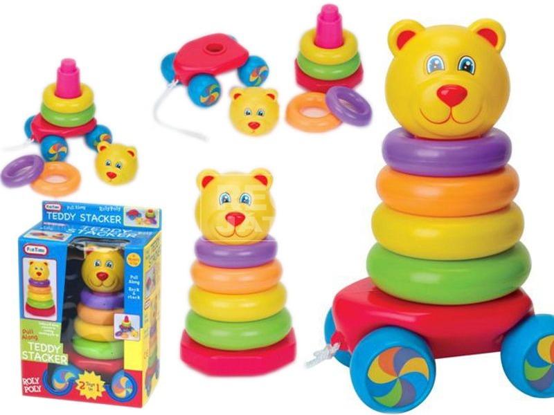 Fun Time Húzható mackós montessori bébijáték