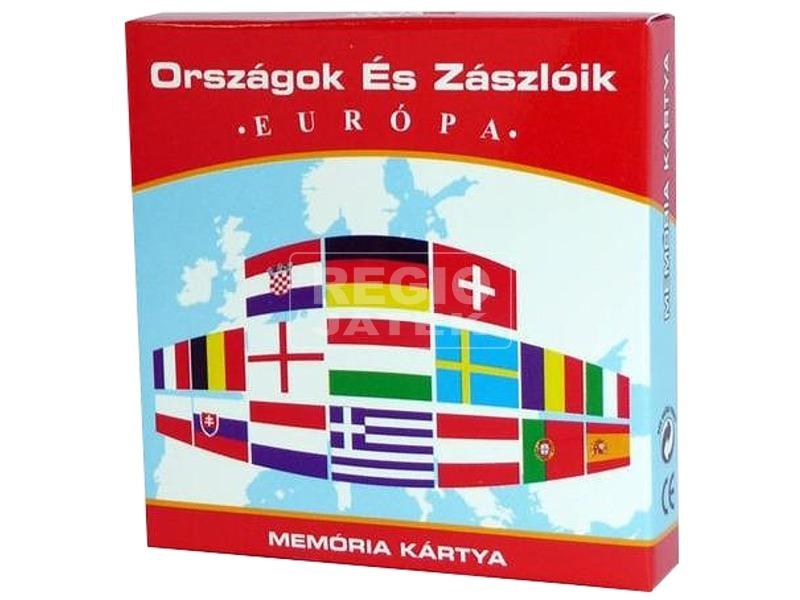 Országok és zászlók Európa memóriakártya