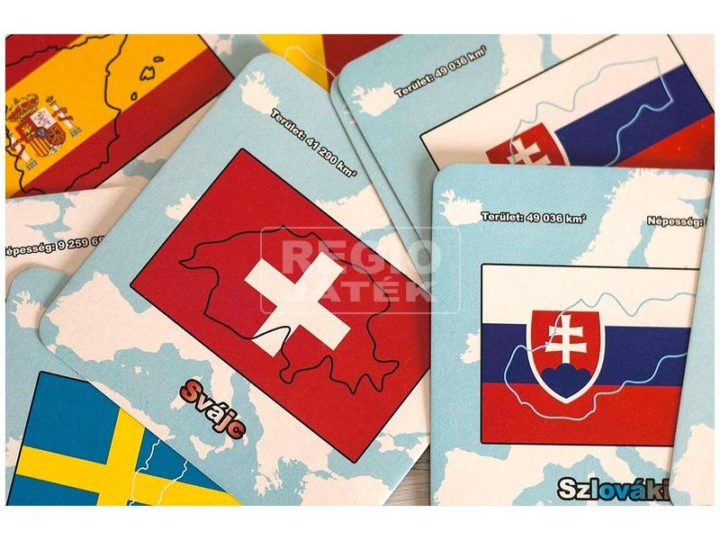 kép nagyítása Országok és zászlók Európa memóriakártya