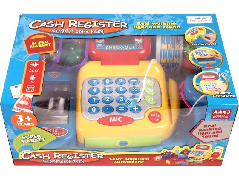 Játék pénztárgép, színes. 0801U185