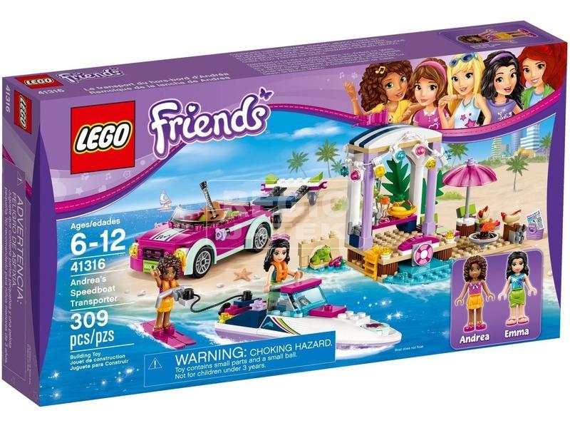 LEGO Friends Andrea motorcsónak szállítója 41316