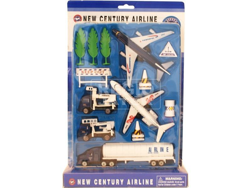 Fém repülőtéri járműkészlet - 1:64