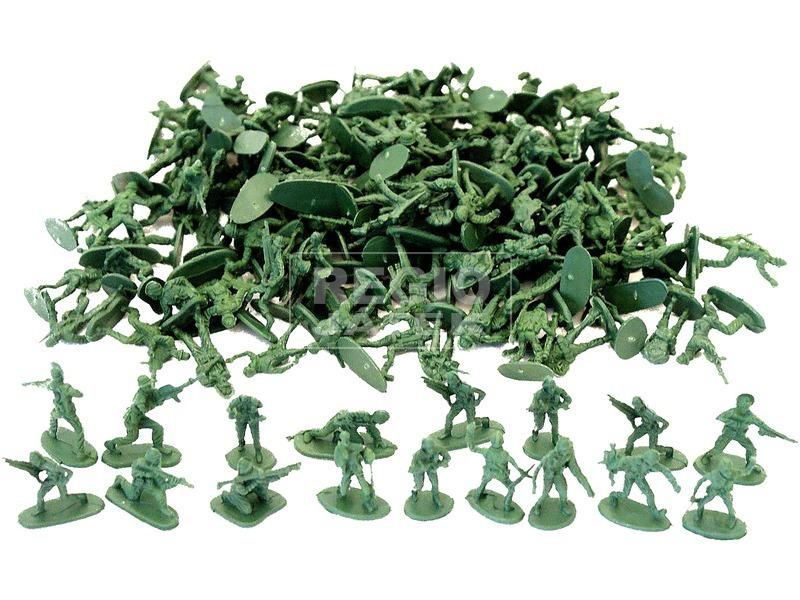 kép nagyítása Műanyag hadsereg 120 darabos készlet