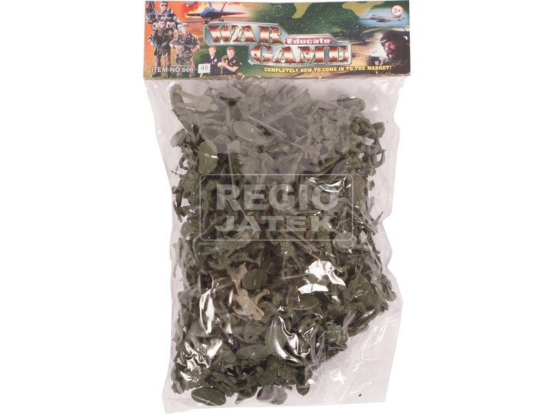 Műanyag hadsereg nagy zacskós. 0810Y021