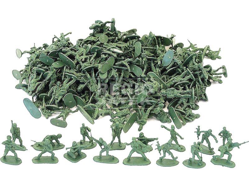kép nagyítása Műanyag katona készlet zacskóban